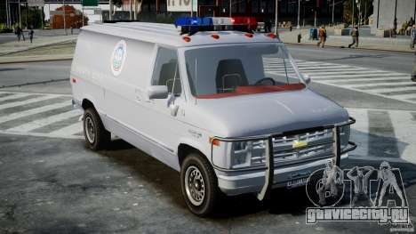 Chevrolet G20 Police Van [ELS] для GTA 4 вид справа