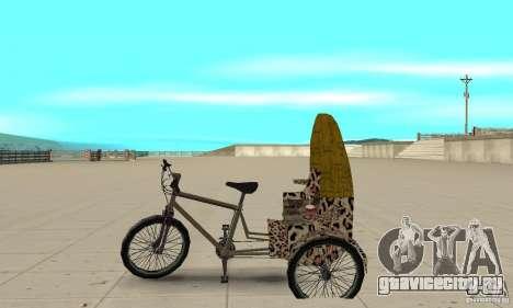 Manual Rickshaw v2 Skin4 для GTA San Andreas вид слева