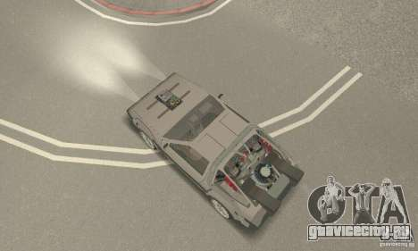 DeLorean DMC-12 (BTTF3) для GTA San Andreas вид сзади слева