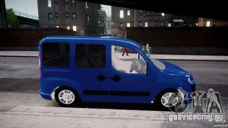 Fiat Doblo 1.9 2009 для GTA 4 вид сзади