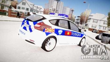Ford Focus Macedonian Police для GTA 4 вид сзади слева