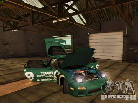 Mazda RX7 rEACT для GTA San Andreas вид сбоку