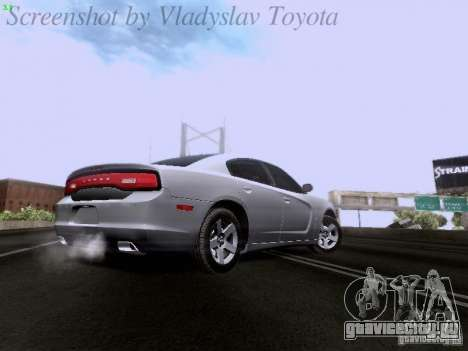 Dodge Charger 2013 для GTA San Andreas вид изнутри
