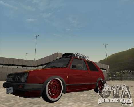 VW Golf II Shadow Crew для GTA San Andreas вид изнутри
