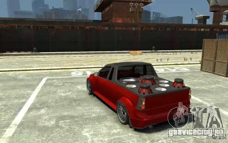 Dacia Pick-up Tuning для GTA 4 вид сзади слева