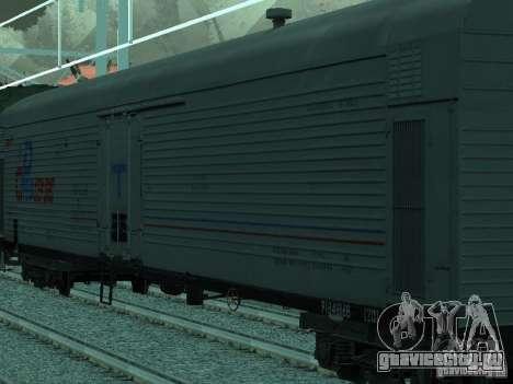 Вагон с рефрижератором для GTA San Andreas вид сзади слева
