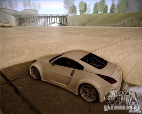 Nissan 350Z AdHoc для GTA San Andreas вид сзади слева