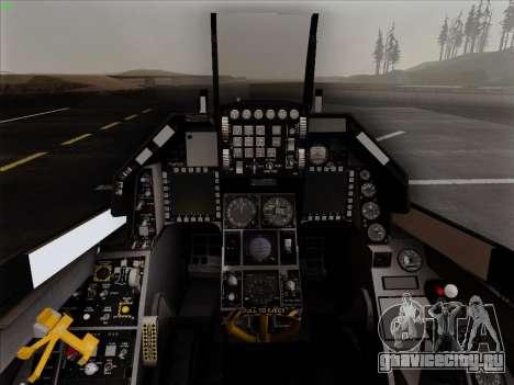 F-16C Warwolf для GTA San Andreas вид сверху
