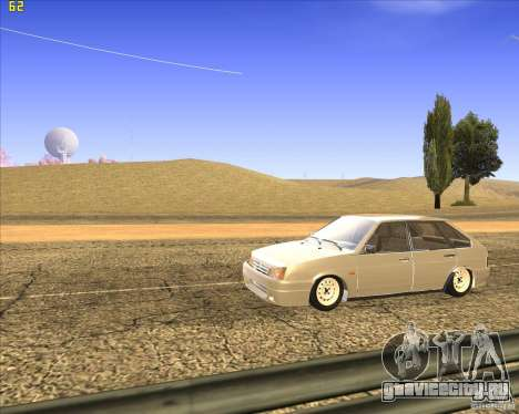 ВАЗ 2109 Тюнинг для GTA San Andreas вид изнутри