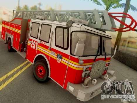 E-One FDNY Ladder 291 для GTA San Andreas вид сзади слева