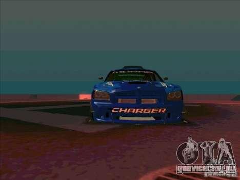 Mopar Dodge Charger для GTA San Andreas вид сзади