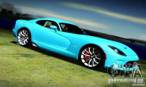 Dodge Viper SRT  GTS для GTA San Andreas вид справа