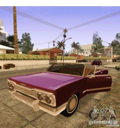Savanna Detroit 1965 ( v. 2 ) для GTA San Andreas вид сзади