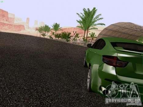 BMW X6 LT для GTA San Andreas вид сзади слева