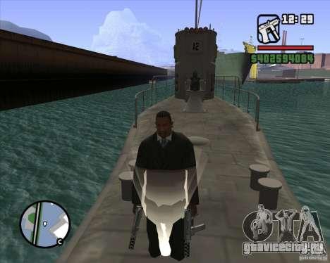 U99 German Submarine для GTA San Andreas девятый скриншот