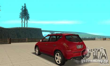 Nissan Murano 2004 для GTA San Andreas вид сзади слева