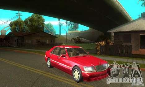 Mercedes-Benz S600 1999 для GTA San Andreas вид изнутри