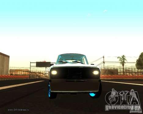 Газ Волга 2410 Drift Edition для GTA San Andreas вид изнутри