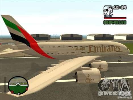 Boeing Emirates Airlines для GTA San Andreas вид слева