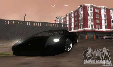 Lamborghini Gallardo для GTA San Andreas вид снизу