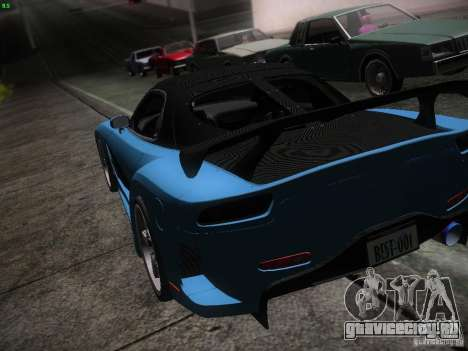 Mazda RX 7 Veil Side для GTA San Andreas вид снизу