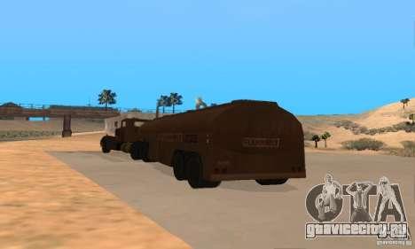 Прицеп к Duel Peterbilt для GTA San Andreas вид справа