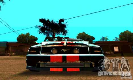 Ford Mustang Shelby GT500 From Death Race Script для GTA San Andreas вид сбоку