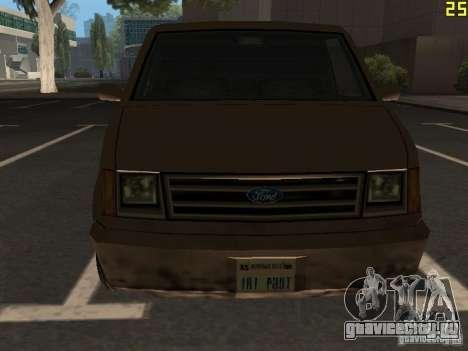 Moonbeam Пикап для GTA San Andreas вид изнутри