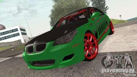 BMW M5 E60 Darius Balys для GTA San Andreas вид слева