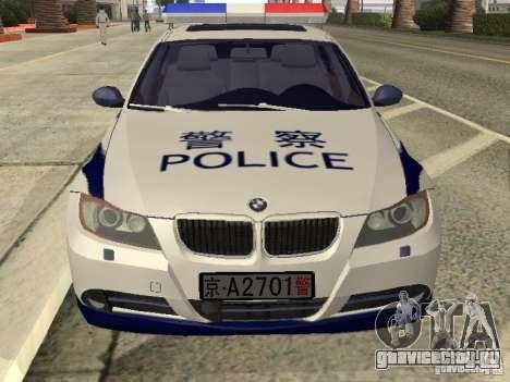 BMW 3 Series China Police для GTA San Andreas вид справа