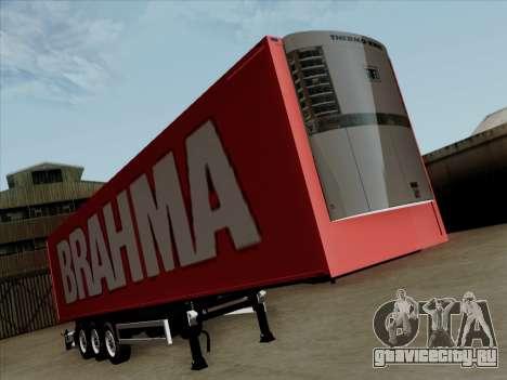 Прицеп для Scania R620 Brahma для GTA San Andreas вид слева