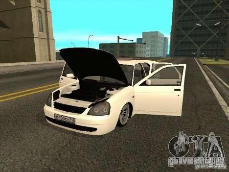 Lada 2170 Priora для GTA San Andreas вид сзади