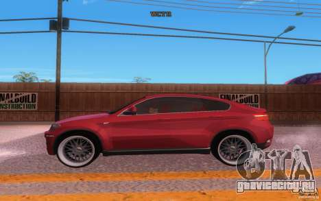 BMW X6 Tuning для GTA San Andreas вид изнутри