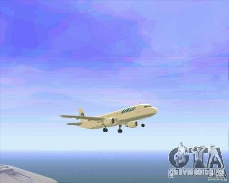 Airbus A-320 авиакомпании UTair для GTA San Andreas двигатель