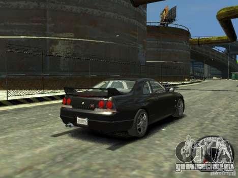 Nissan Skyline GT-R V-Spec (R33) 1997 для GTA 4 вид сзади слева