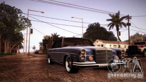 Mercedes Benz 300 SEL - Custom RC3D Edit для GTA San Andreas вид изнутри