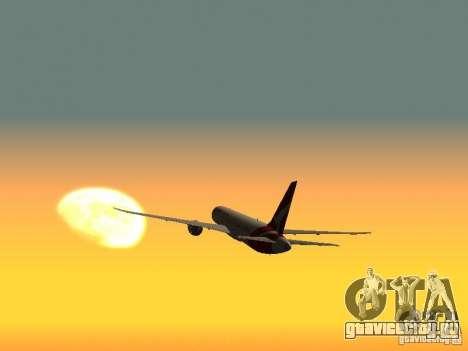 Boeing 787 Dreamliner Qantas для GTA San Andreas вид сзади слева