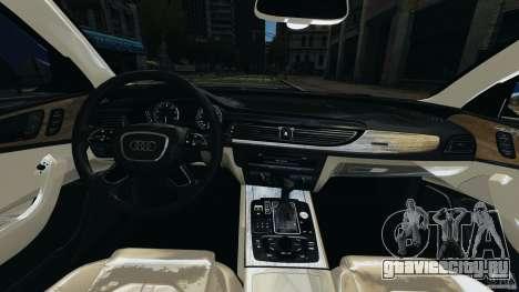 Audi A6 для GTA 4 вид сзади