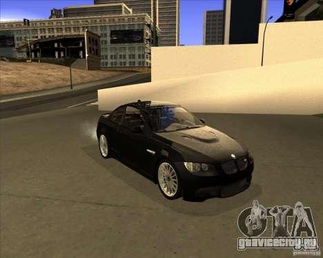 BMW M3 Convertible 2008 для GTA San Andreas вид слева