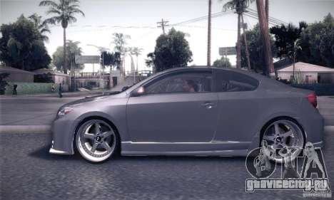 Scion Tc Street Tuning для GTA San Andreas вид слева