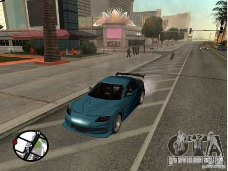 Mazda RX8 для GTA San Andreas вид изнутри