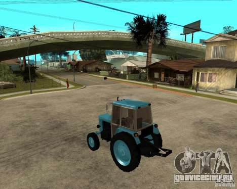 Трактор Беларусь 80.1 и прицеп для GTA San Andreas вид слева