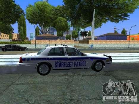 Ford Crown Victoria Police Interceptor 2008 для GTA San Andreas вид сзади