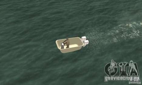 Bathtub Dinghy для GTA San Andreas вид справа