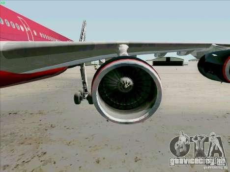 Airbus A-340-600 Formula 1 для GTA San Andreas вид изнутри