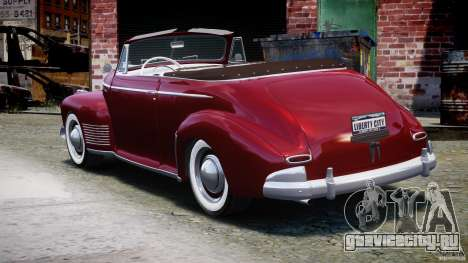 Chevrolet Special DeLuxe 1941 для GTA 4 вид сзади слева