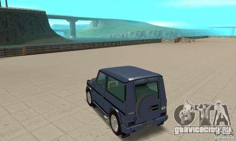 Mercedes-Benz G500 1999 Short [with kangoo v3] для GTA San Andreas вид сзади слева