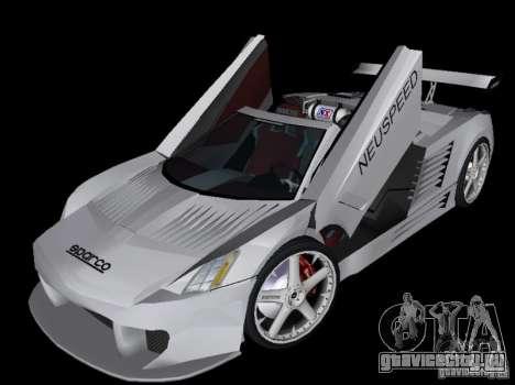 Cadillac Cien Shark Dream TUNING для GTA Vice City вид сзади