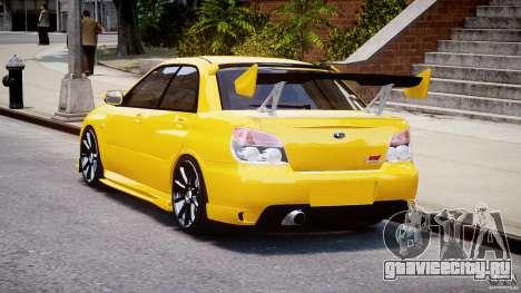 Subaru Impreza STI для GTA 4 вид сзади слева