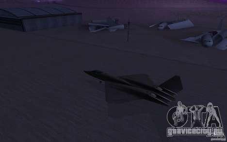 YF-23 для GTA San Andreas вид слева